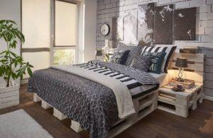 Łóżko z palet inspiracje, pomysły, wykonanie